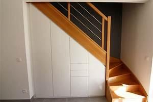 placard sous escalier coulissant placard coulissant sous With meuble de rangement hall d entree 11 placard sous escalier sur mesure paris nantes vannes