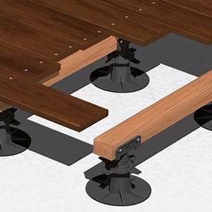 Support Terrasse Bois : support terrasse bois plot terrasse rglable 105 170mm ~ Premium-room.com Idées de Décoration