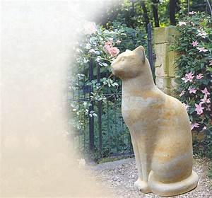 Skulpturen Für Garten : stilvolle katzenfiguren katzenfigur f r den garten steinkatze sandstein steinguss ~ Watch28wear.com Haus und Dekorationen