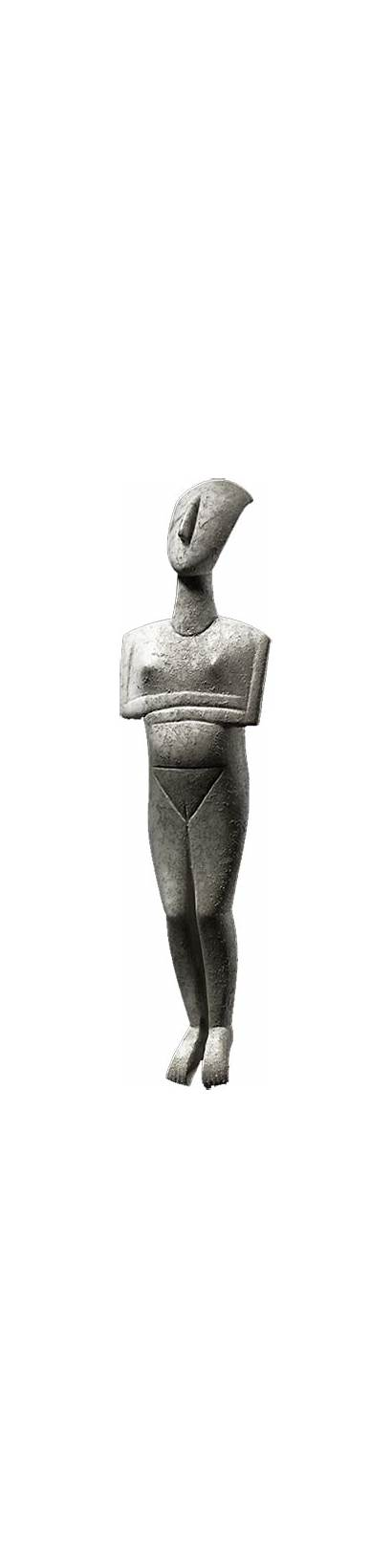 Cycladic Sculptures Sculpture Greece Islands Figurines Neolithic