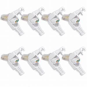 Cat 6 Stecker : 8x rj45 stecker cat 7 6 lan stecker zur werkzeuglose montage mit knickschutz ebay ~ Frokenaadalensverden.com Haus und Dekorationen