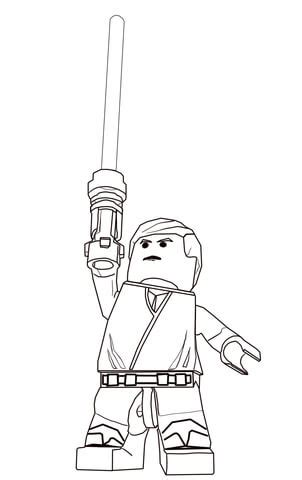 lego star wars luke skywalker coloring page  printable coloring pages