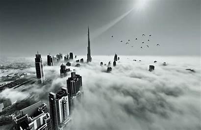 Dubai Mist Skyline Murals Muralswallpaper Wall