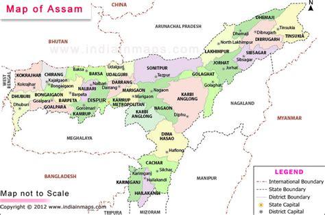 india assam map