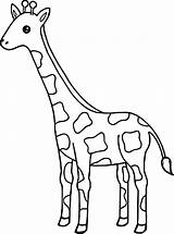 Giraffe Coloring Pages Baby Tall Giraffes Cute Drawing Easy Animal Printable Wecoloringpage Sheets Face Getdrawings Funny Getcolorings Pag sketch template