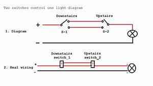 Wiring Two Switches To One Light Diagram