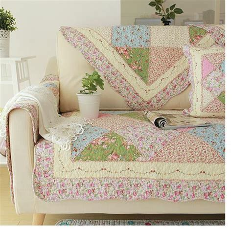 shabby chic slipcovers for loveseats shabby chic cottage country quilted sofa loveseat