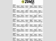 Getting In Shape {Recap 1 – Exercise Schedule}