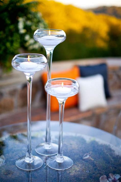 drink table decorating cocktail table decor floating candles decor inspiration
