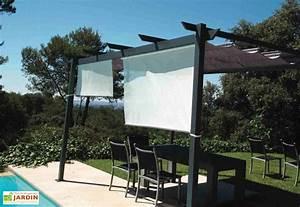 rideau brise soleil pour pergola 170 cm couleurs du monde With rideau pour pergola exterieur 10 pergolas alu