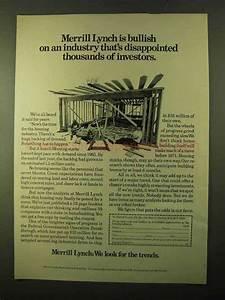 1970 Merrill Lynch Ad - Bullish on An Industry
