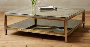 enclosed circlet coffee table anthropologiecom With glass enclosed coffee table