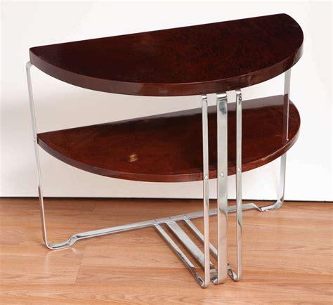 half circle side table single machine age art deco half circle side table at 1stdibs