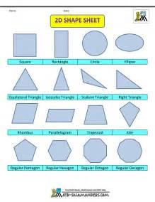2d Shape Sheet color 2d Shape Sheet color no labels