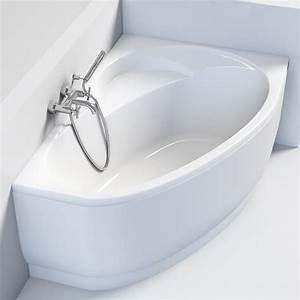 Baignoire D Angle Asymétrique : baignoire d 39 angle droite 150 x 100 cm flora ~ Dailycaller-alerts.com Idées de Décoration