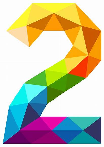 Number Clipart Colourful Triangles Numbers Rainbow Alphabet