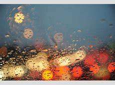 Seattle rain on my windshield, traffic, car's lights, Wash