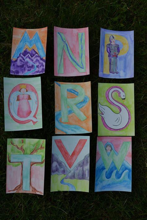 waldorf st grade letter cards  images