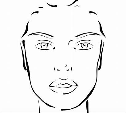 Face Blank Makeup Templates Charts Template Chart