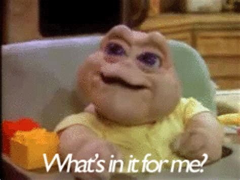 Baby Sinclair Meme - dinosaurs negotiate gif find share on giphy
