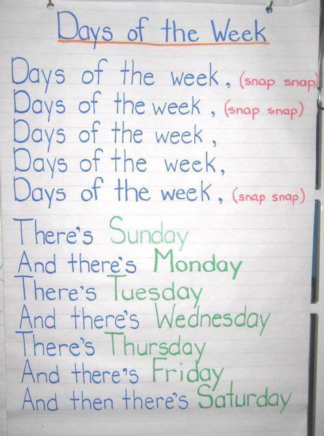 adams preschool days of the week family song nursery rhymes 818