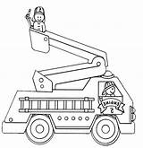 Coloring Fire Pages Truck Giving Trucks Benefit Educational Three sketch template
