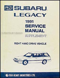 how to download repair manuals 1991 subaru legacy on board diagnostic system 1991 subaru legacy repair shop manual 6 volume set original
