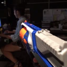 It needs to be easy to carry, and i would prefer an easy to reload weapon. Stoopid Buddy Stoodios » Featured Vine: Nerf Gun Sneak Attack