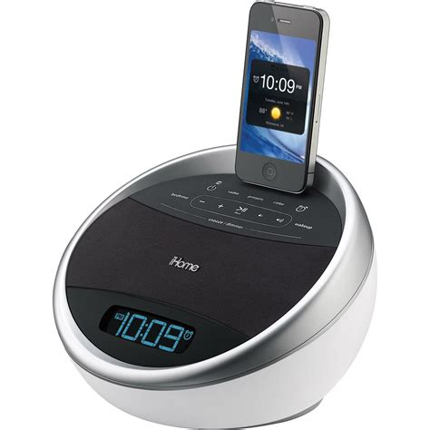 iphone alarm clock ihome ia17 color changing stereo fm alarm clock radio ia17wzc