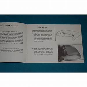 Original 1968 Convertible Top Operation Manual