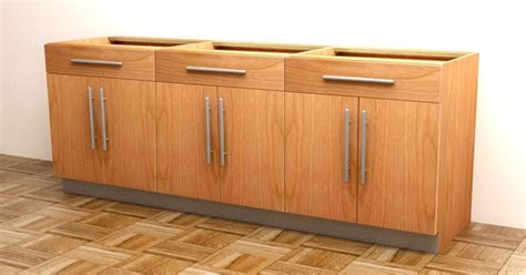 build frameless base cabinets