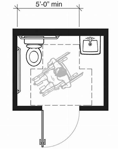 Ada Bathroom Floor Plans Handicap Requirements Layout