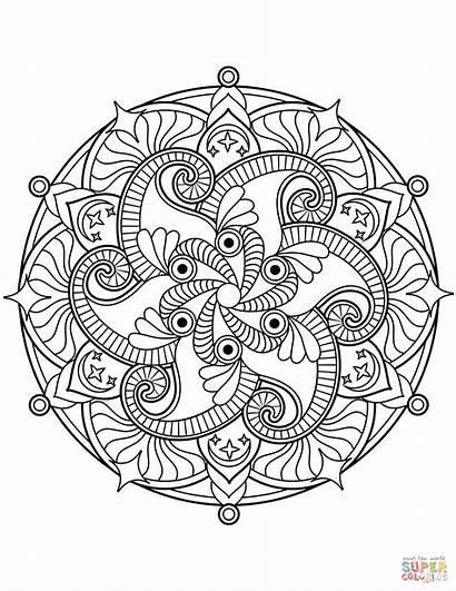 Mandala Mandalas Coloring Printable Blumen Ausmalbilder Flower