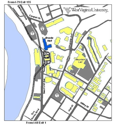 Wvu Campus Map Downtown