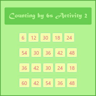 counting   activity  number patterns  skip