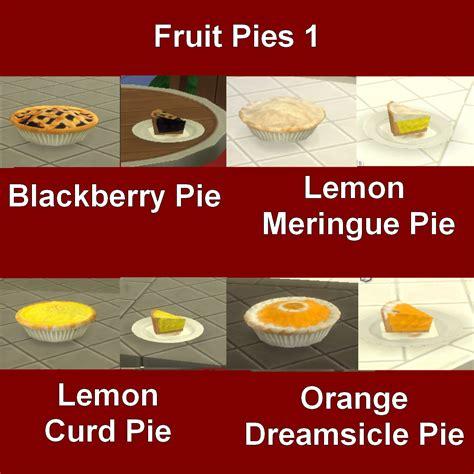 customisation cuisine my sims 4 custom food pies by leniad