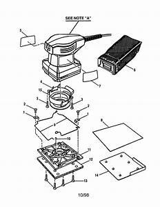 Craftsman 1  4 Sheet Professional Sander Parts