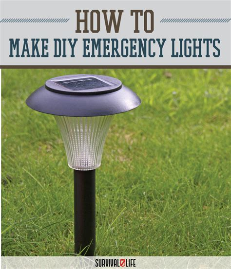 make your own emergency lights from solar yard lights
