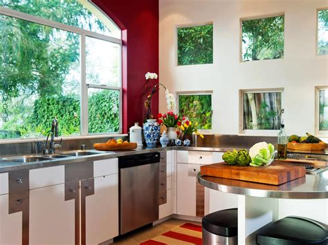 Contemporary Kitchen Window Treatments + Hgtv Pictures