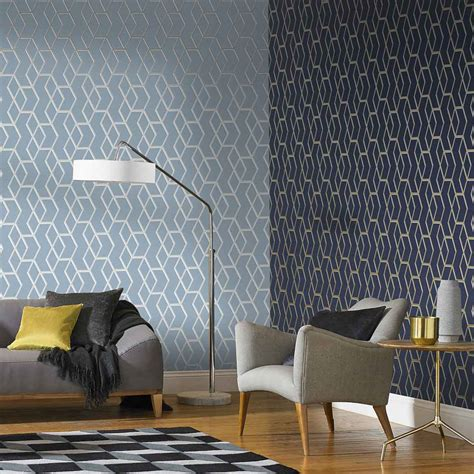 Contemporary Living Room Wallpaper by Make Your Rooms Pop With These Unique Accent Wall Ideas