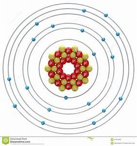 Calcium Atom On A White Background Stock Illustration