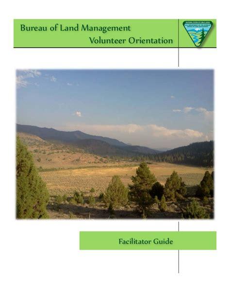 bureau am駭agement bureau of land management facilitator guide 3