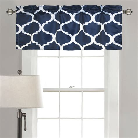 And White Valance by Traditions By Waverly Navarra Floral Window Valance