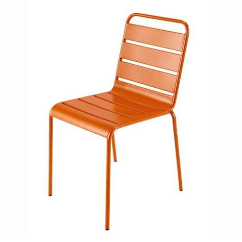metal garden chair in orange batignoles maisons du monde