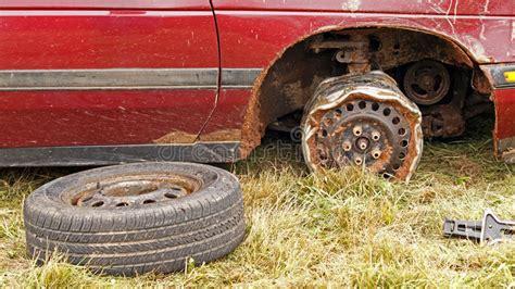 Demolition Derby Car Wheel Rim Editorial Stock Photo