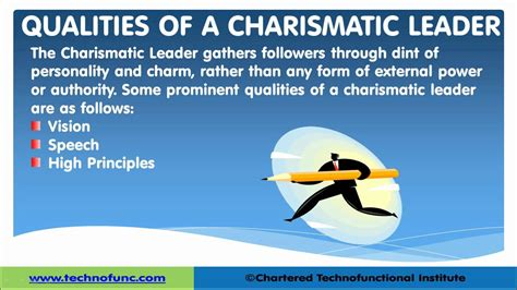 charismatic leadership leadership skills youtube