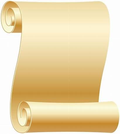 Scroll Transparent Clip Paper Scrolls Empty Background