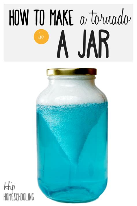 How To Make A Tornado In A Jar Fun Science For Kids