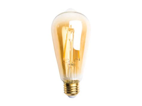 tcp dimmable 2 7 watt 2200k vintage filament st19 led bulb
