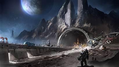 Moon Mine Sci Fi Planet Futuristic Myconfinedspace